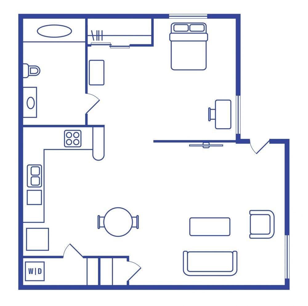 1 Bedroom 1 Bath Student Apartments